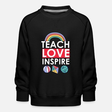 I Heart Teach love inspire Preschool Teacher - Kinder Premium Pullover