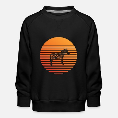 Wild Zebra silhuette in the sunset - Kids' Premium Sweatshirt