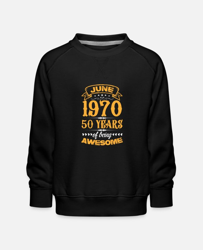 June Hoodies & Sweatshirts - June 1970 - Kids' Premium Sweatshirt black