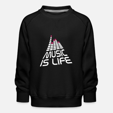 Music music is life 3d I EN - Kids' Premium Sweatshirt