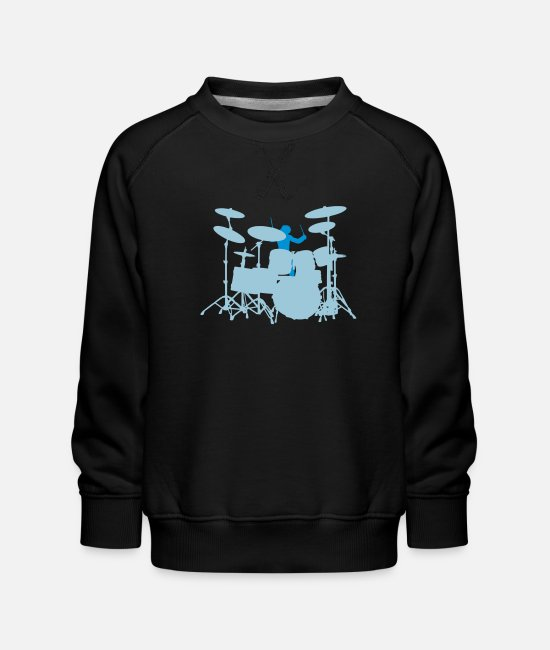 Pearl Hoodies & Sweatshirts - Drums - Kids' Premium Sweatshirt black