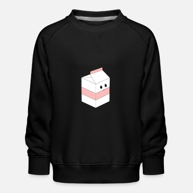 Cosplay Milk cute japanese pink milk illustration - Kids' Premium Sweatshirt
