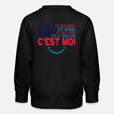 Citations citation beau gosse genial intelligent meilleur es - Sweat ras-du-cou Premium Enfant