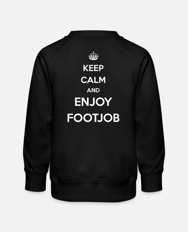 Highheels Hoodies & Sweatshirts - Footjob / Feet / Erotic / High heels / Domina Love - Kids' Premium Sweatshirt black