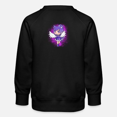 Purple Haired Flying Girl - Kids' Premium Sweatshirt