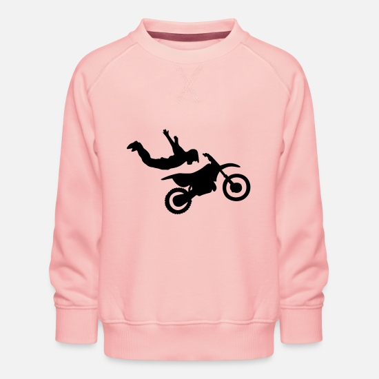 Trippy Hoodies & Sweatshirts - Motorcross #9 - Kids' Premium Sweatshirt crystal pink