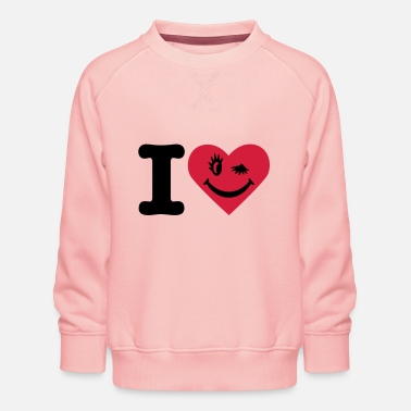 I LOVE SMILE 2 - Sweat ras-du-cou Premium Enfant
