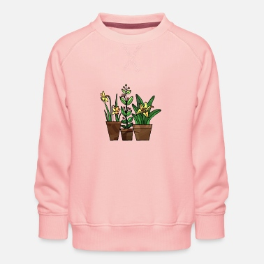Folk Flowers - Kids' Premium Sweatshirt