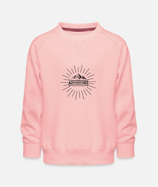 Nature Hoodies & Sweatshirts - Outdoor Travel Adventure Nature - Kids' Premium Sweatshirt crystal pink