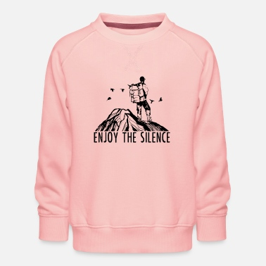 Citaten Enjoy The Silence - Hiking Outdoor Nature Mountains - Kinderen premium sweater