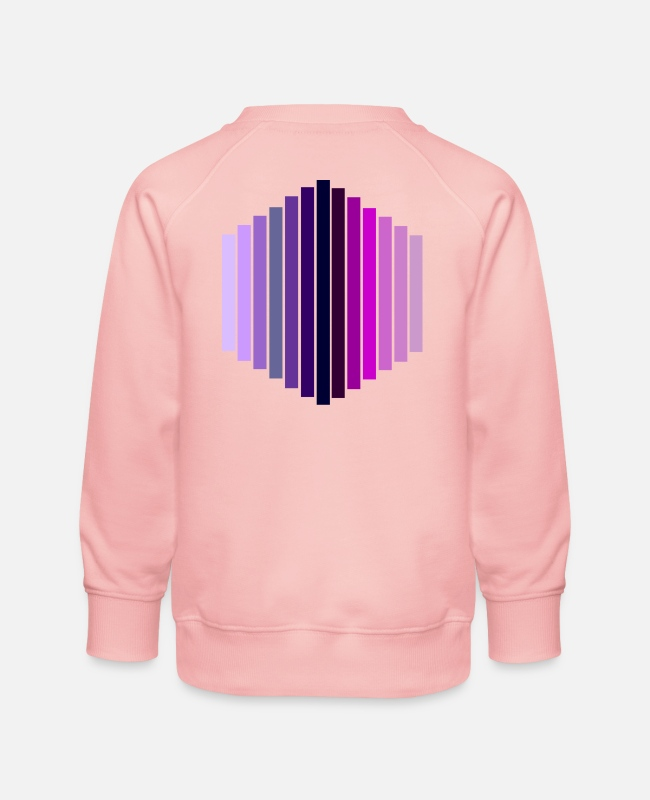 Lilac Hoodies & Sweatshirts - hexagon - Kids' Premium Sweatshirt crystal pink