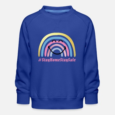 Corona SmileyWorld Stay Home Stay Safe - Kids' Premium Sweatshirt