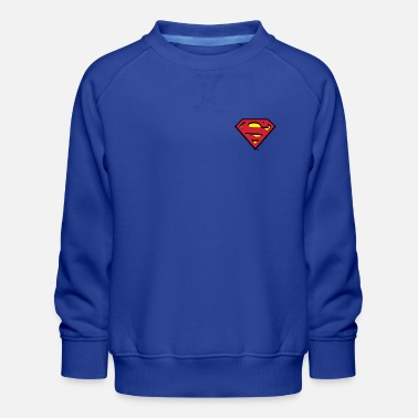 Superman kleines Logo S-Shield - Kinder Premium Pullover