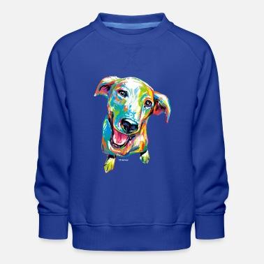 PD Moreno Colorful Puppy - Kids' Premium Sweatshirt