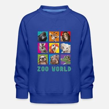 PD Moreno Zoo World 2 - Kids' Premium Sweatshirt