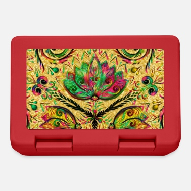 Psychedelic Lotus pattern colors ornaments colorful psychedelic - Lunchbox