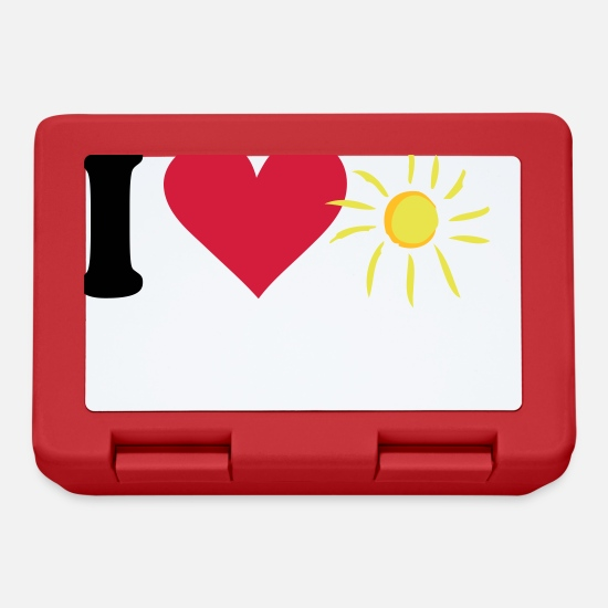 Birthday Lunchboxes - sun - Lunchbox red