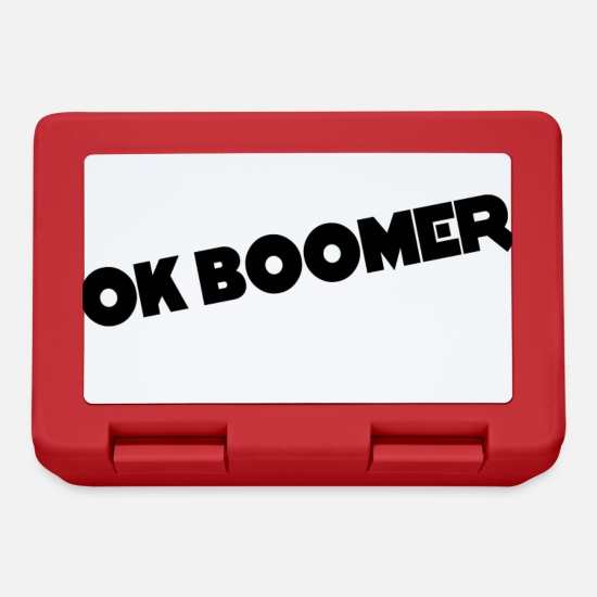 Rude Lunchboxes - Ok Boomer memes - Lunchbox red