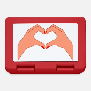 Gesture Heart gesture love relationship gesture partner gift - Lunchbox