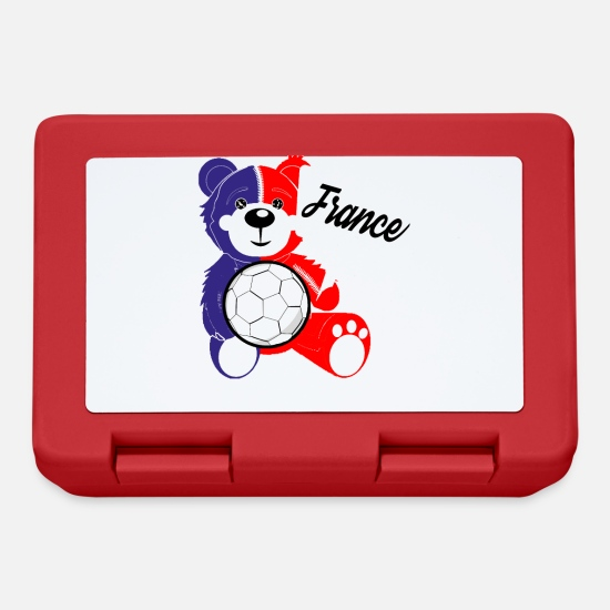 Calcio Lunch boxes - Teddy France - Lunch box rosso