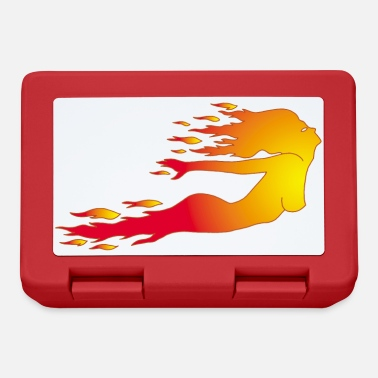 Fire Woman Elemental woman of fire - Lunchbox