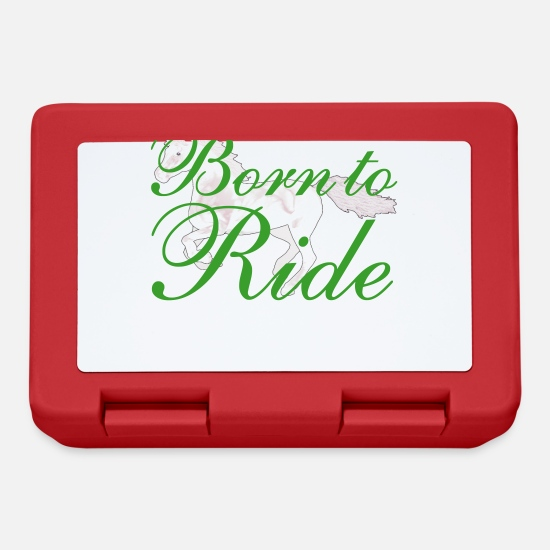 Ride A Horse Lunchboxes - Born To Ride - Lunchbox red