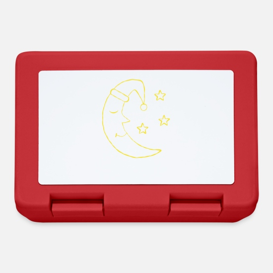 Bed Lunchboxes - Moon drawing sleep sleep kids motif - Lunchbox red