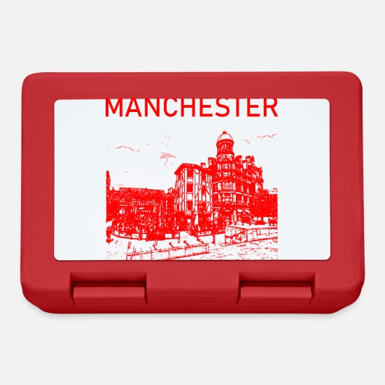 Gift Idea Lunchboxes - Manchester England gift idea - Lunchbox red