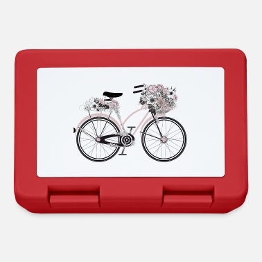 Riding School Retro bike with lush floral decoration - Lunchbox