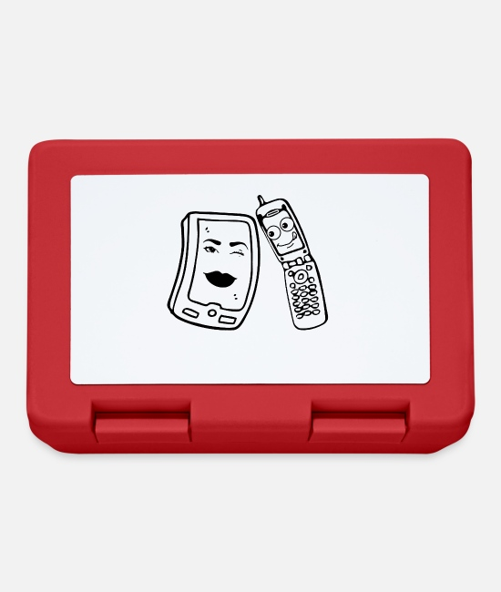 Cute Lunchboxes - Cell Phone. Smartphone. Love. - Lunchbox red