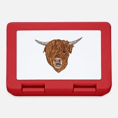 Kälbchen Scottish Highland Cattle Face Highland Cattle Cow - Lunchbox