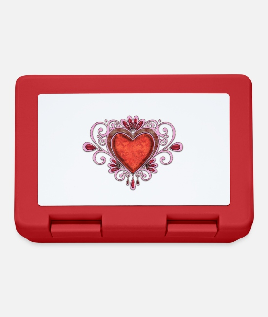 Heart Lunchboxes - Beautiful noble heart - Lunchbox red