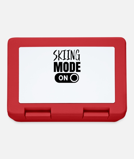 The Best Of Lunchboxes - Ski mode Skiing to skiers - Lunchbox red