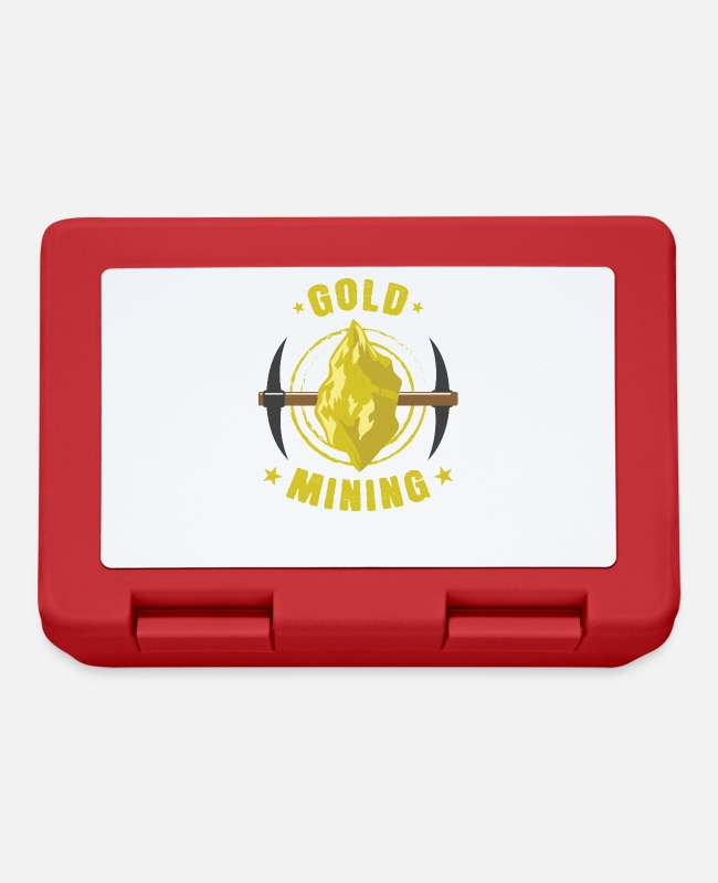 Gold Prospector Lunchboxes - Gold mining gold nuggets - Lunchbox red