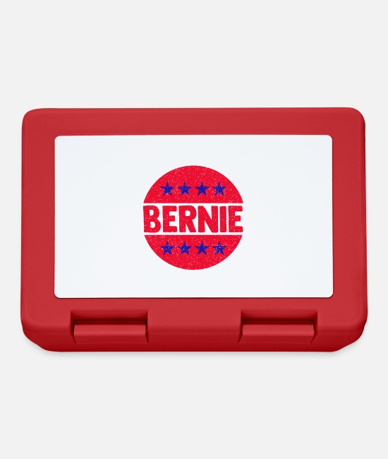 Usa Lunchboxes - Bernie - Round circle with stars - Lunchbox red