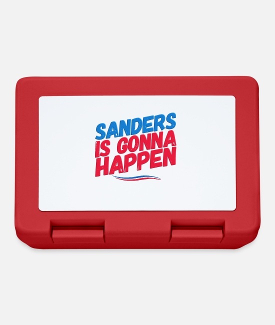 Usa Lunchboxes - Sanders will happen - vintage look - Lunchbox red