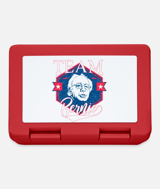 Usa Lunchboxes - Team Bernie - Bernie Sanders - Red and Blue Retro - Lunchbox red