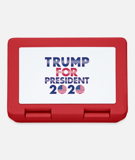 Red Lunchboxes - Trump as President 2020 - Lunchbox red