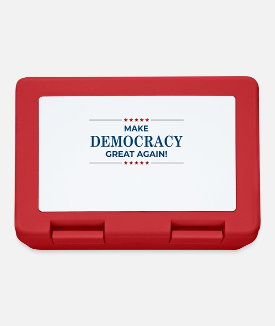 Joe Lunchboxes - Make Democracy Great Again - US Election - Lunchbox red