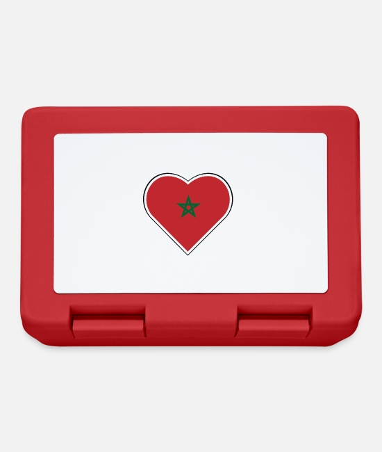 Proud Lunchboxes - My heart beats for Morocco - Lunchbox red