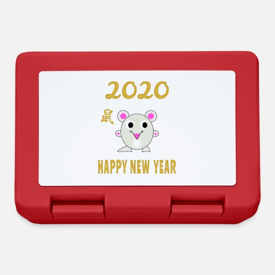 Chinese New Year Lunchboxes - Happy Chinese New Year 2020 - Lunchbox red