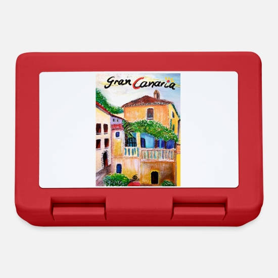Gift Idea Lunchboxes - Ground floor Gran Canaria I Spain I vacation I acrylic painting - Lunchbox red