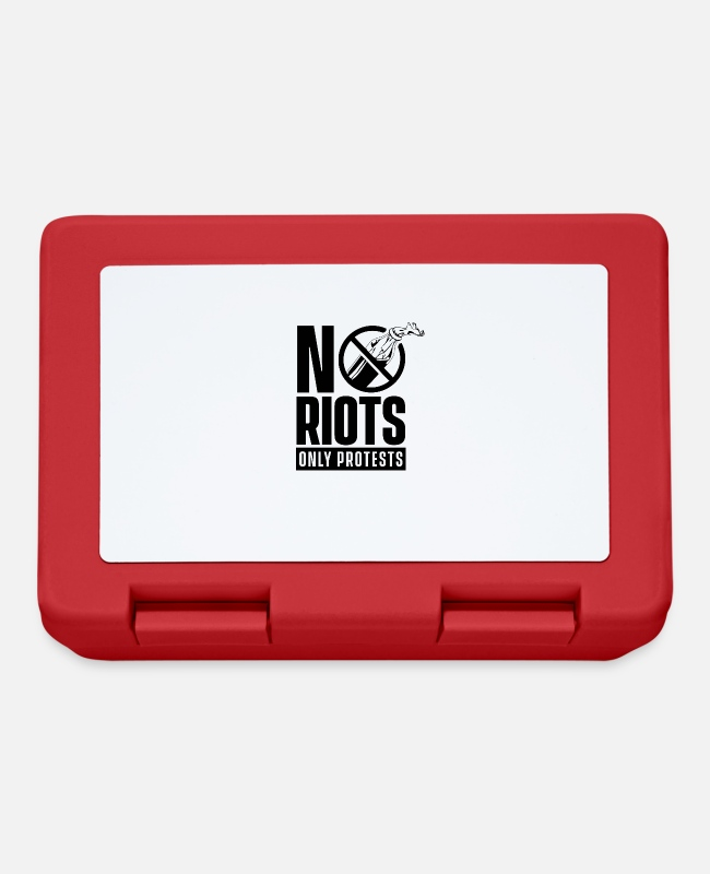 Protest Lunchboxes - No riots just protests - Lunchbox red