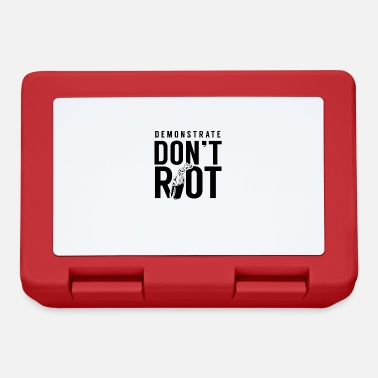 Rioting Demo riots protest rioters riot - Lunchbox