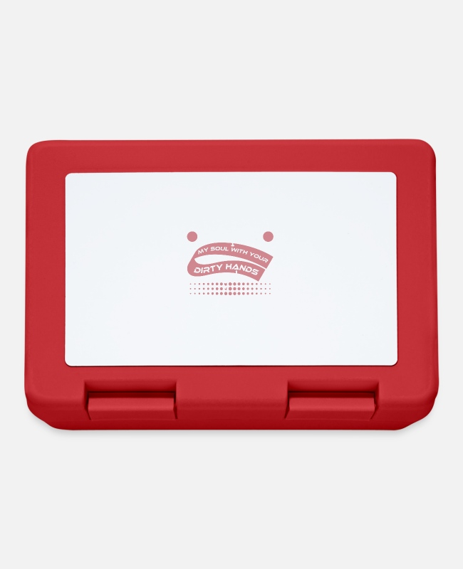 "Foul Lunchboxes - Don't Pouch My Soul With Your Dirty Hands Yo!"" - Lunchbox red"