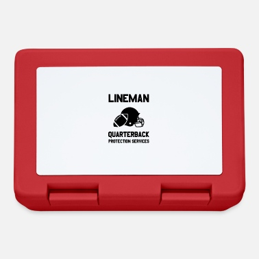 Protection Service Football Lineman Quote Player Funny Protection - Lunchbox