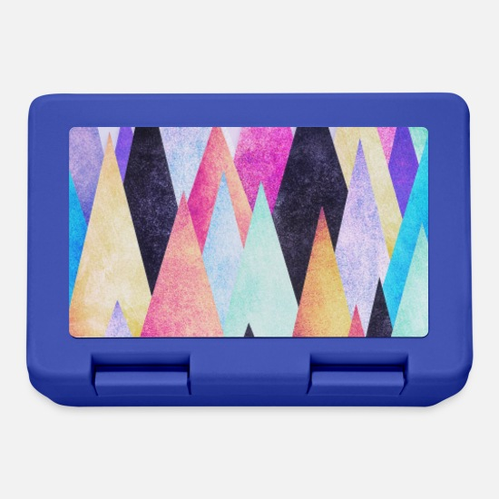 Coole Brotdosen - Hipster Dreieck (Geometrie) Abstrakt Design Phone - Brotdose Royalblau