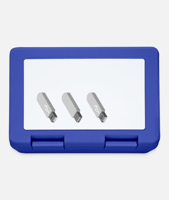 Office Lunchboxes - Daily problem: Connect the USB stick correctly - Lunchbox royal blue