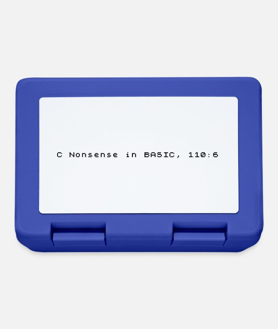 Basic Lunchboxes - C Nonsense in BASIC - Sinclair ZX Spectrum Error - Lunchbox royal blue