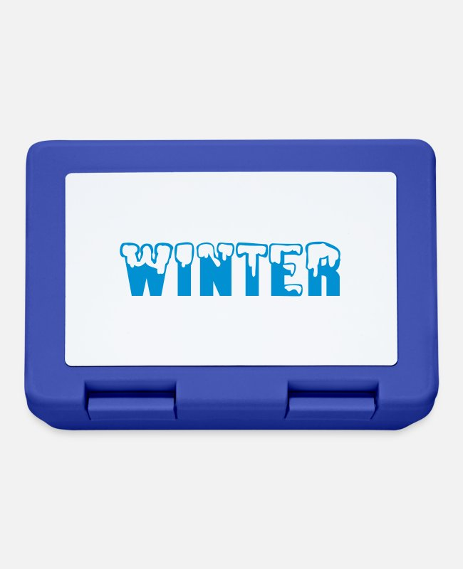 Ski Lunchboxes - winter - Lunchbox royal blue